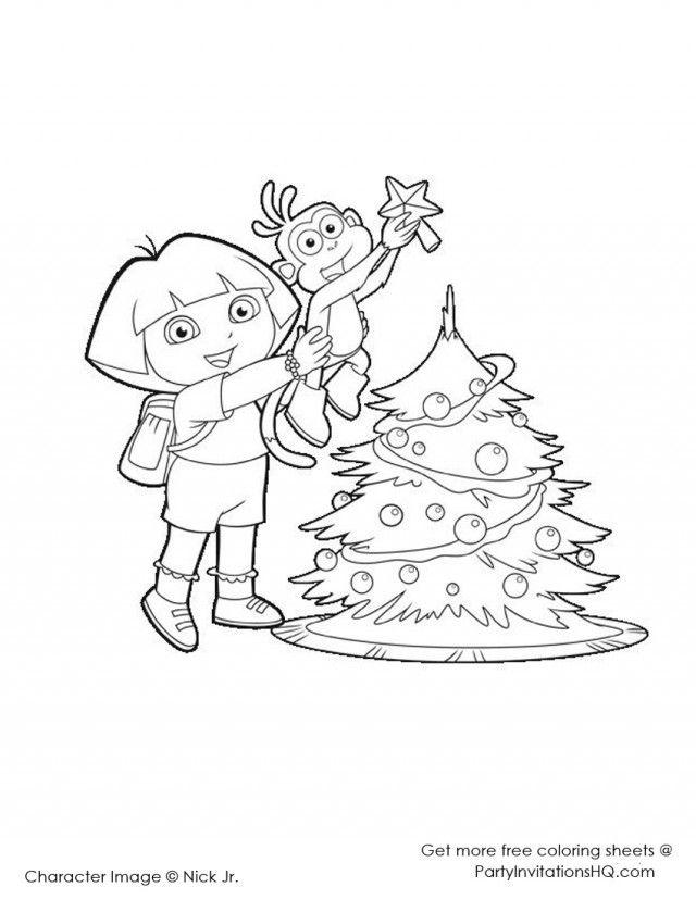 nick jr dora coloring pages - photo#23