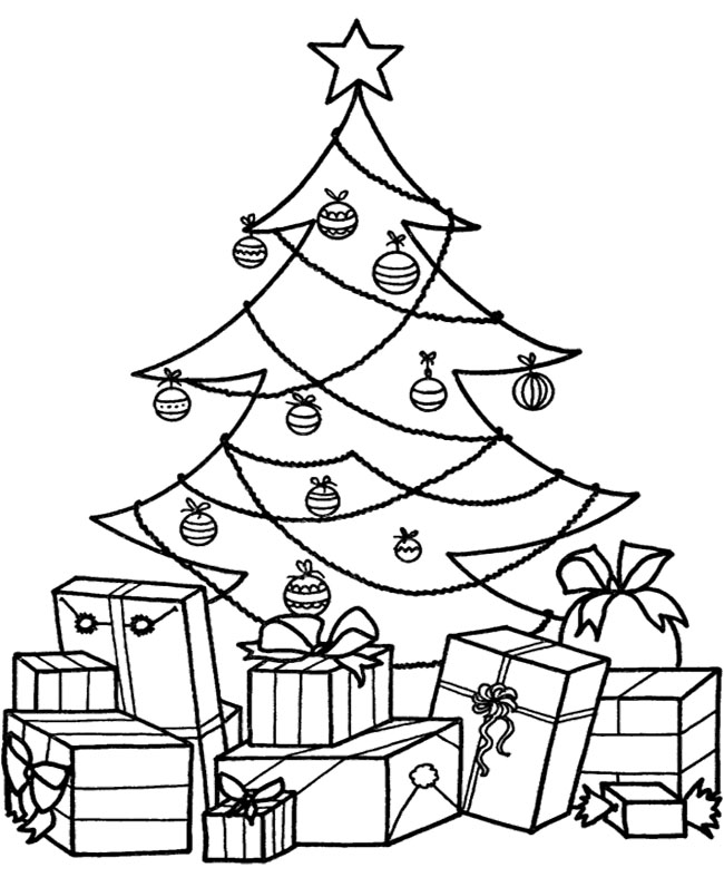 Christmas Gift Pictures Az Coloring Pages Tree With Gifts Coloring Pages