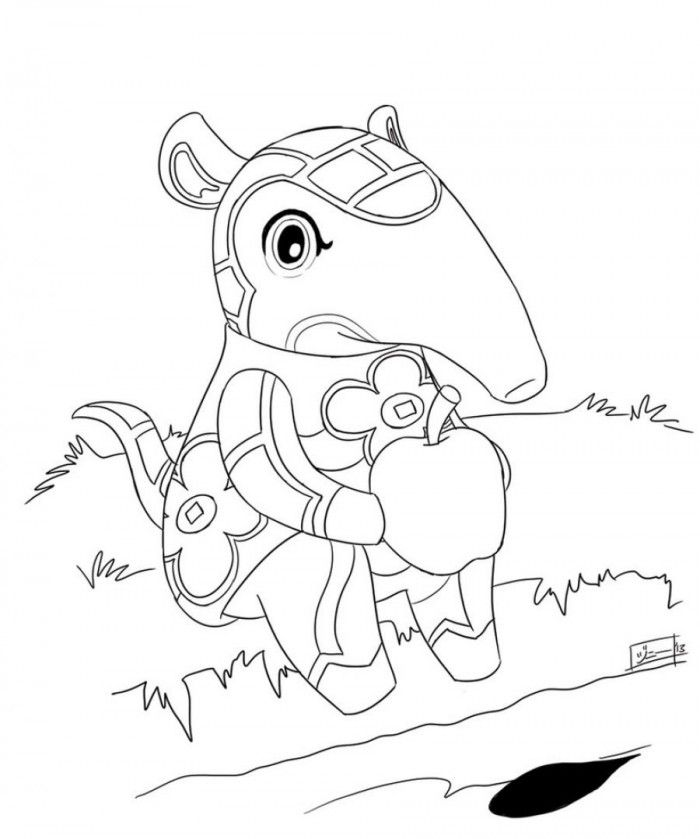 Anteater Baby Coloring Pages