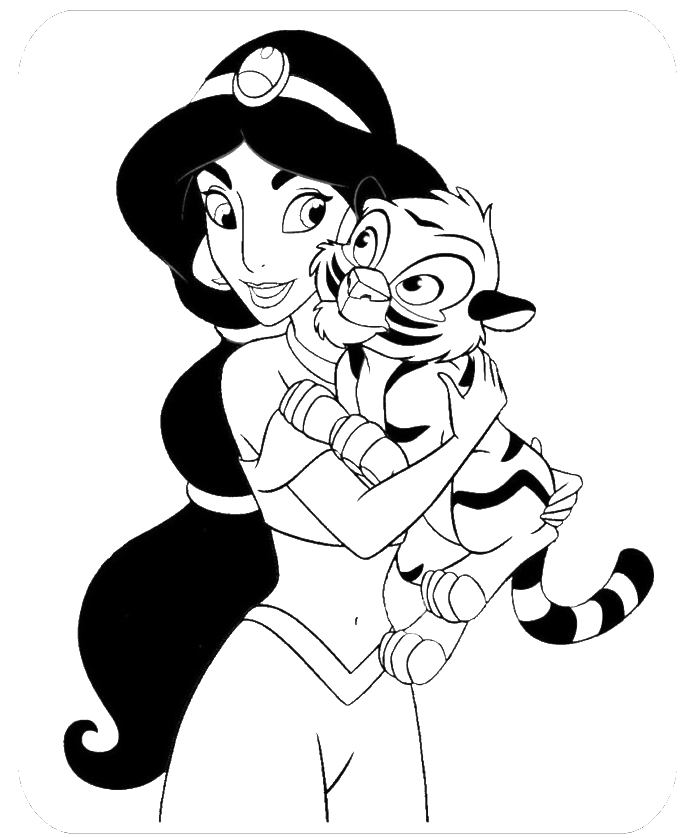 Disney Princess Jasmine Coloring Pages - Coloring Home