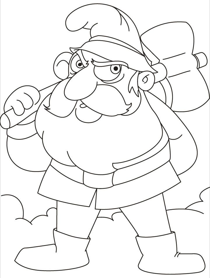 Gnome coloring pages coloring home for Coloring pages gnomes