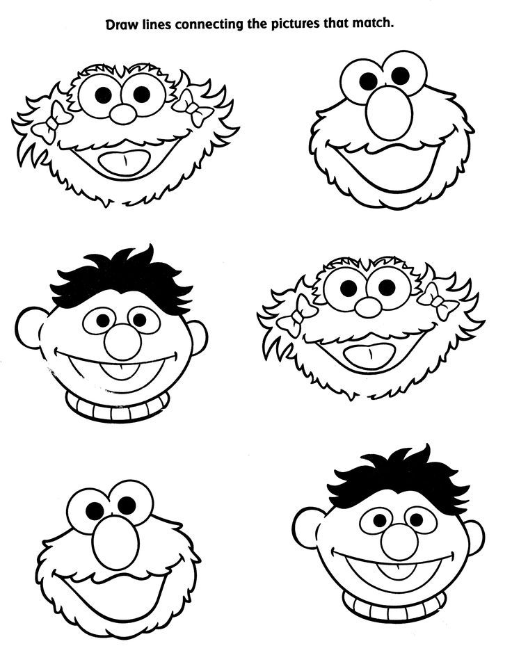 Printable pictures of sesame street characters coloring home for Sesame street color pages