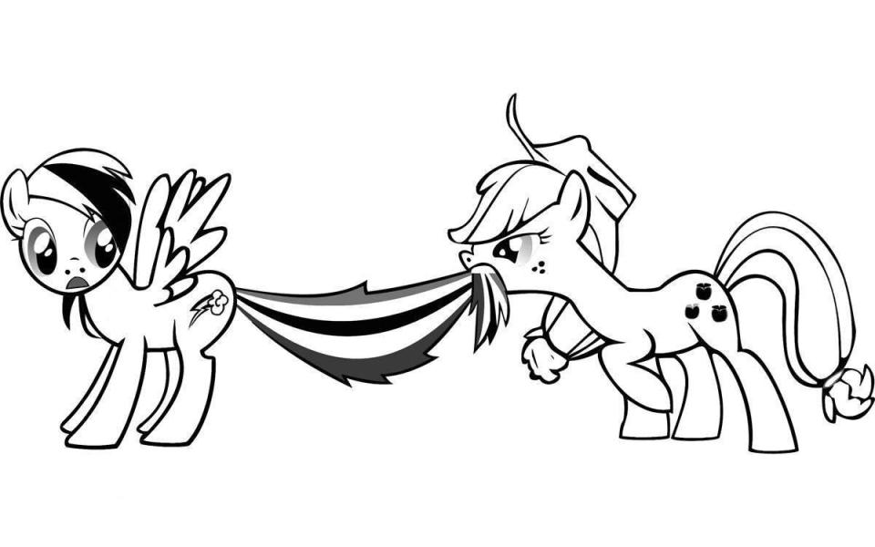 Rainbow Dash Coloring Page - Free Coloring Pages For KidsFree