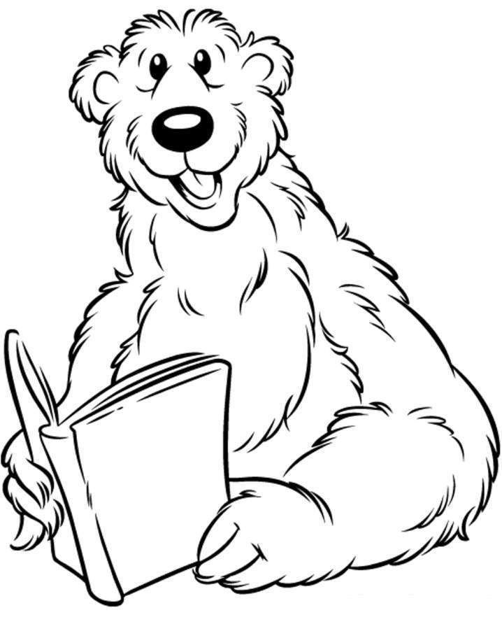 Coloring Pages Of Animals Reading : Reading animals colouring pages az coloring