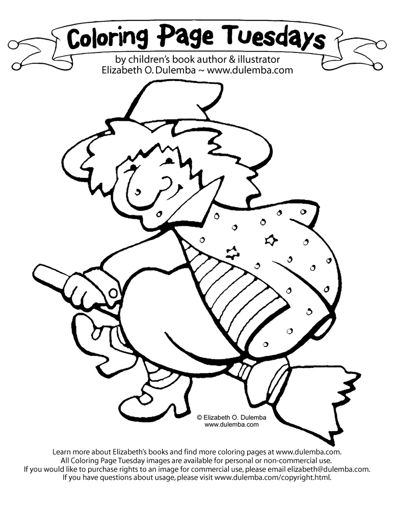 dulemba: Coloring Page Tuesday - Witch!