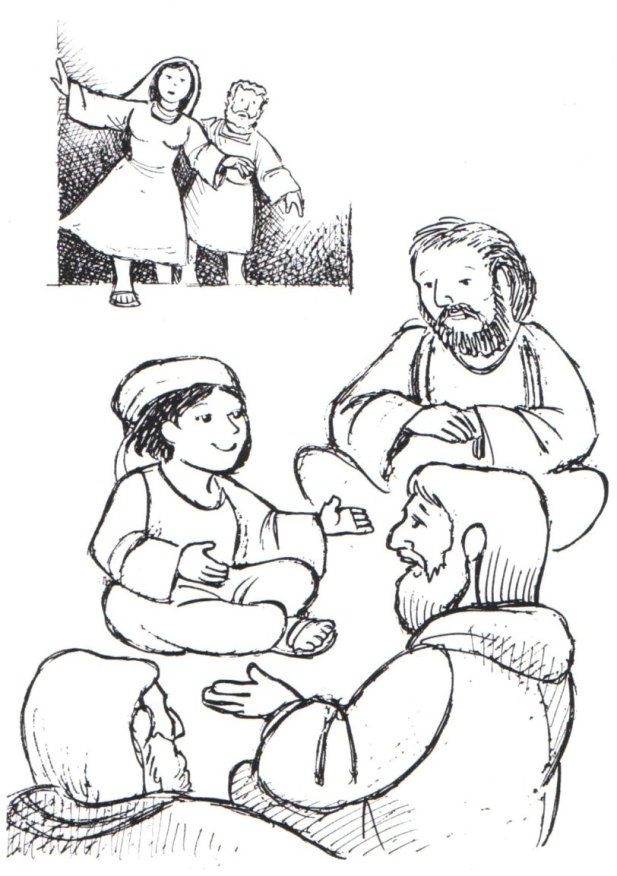 Boy Jesus In Temple Colouring Pages Page 3