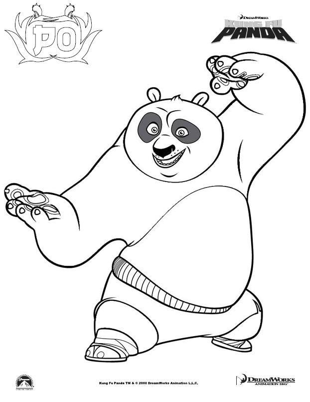 Con Fu Panda - Coloring Home
