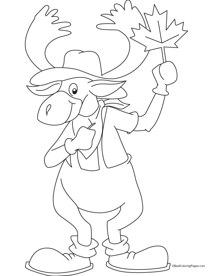 coloring pages manitoba moose - photo#4