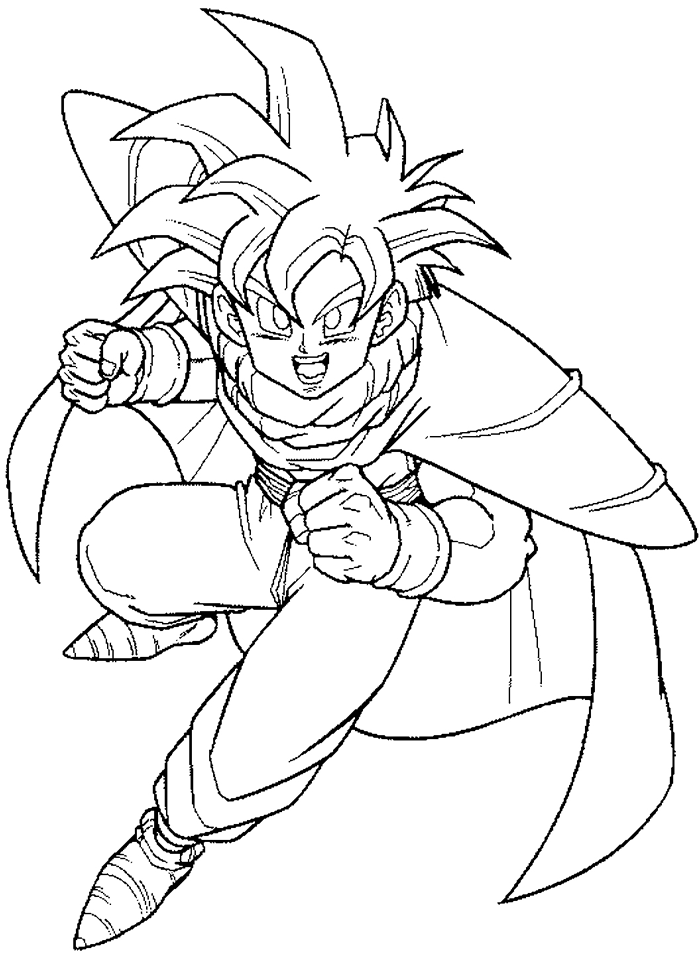 Drawings Of Dragon Ball Z Characters Az Coloring Pages Coloring Pages Of Z Characters