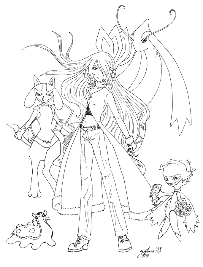 sinnoh pokemon coloring pages - photo#21