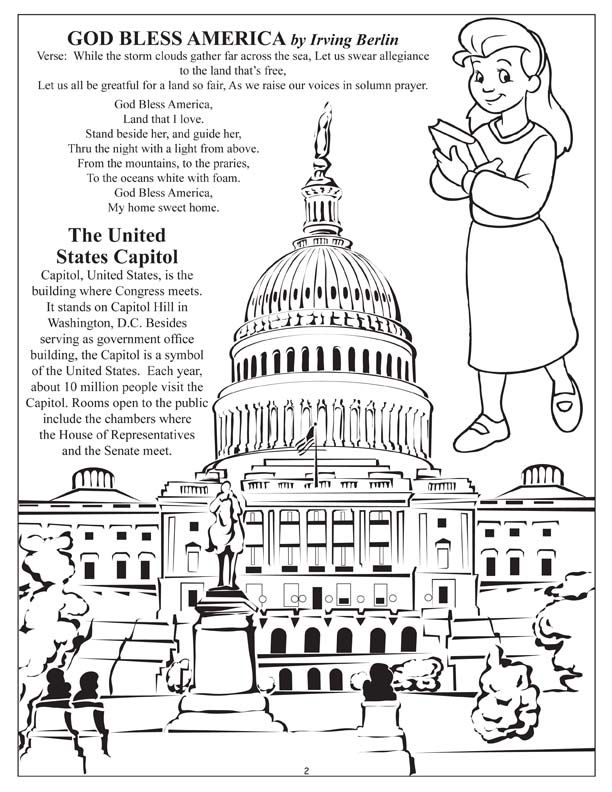 coloring pages of capitol building - photo#14