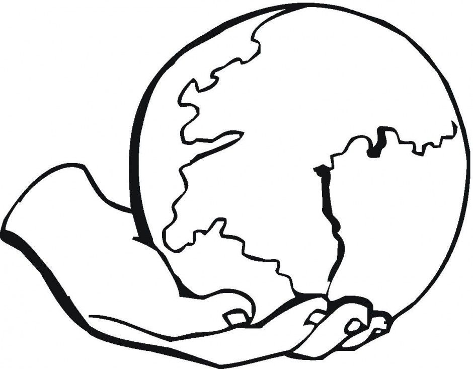 World Map Coloring Page For Kids Earth Day Pages