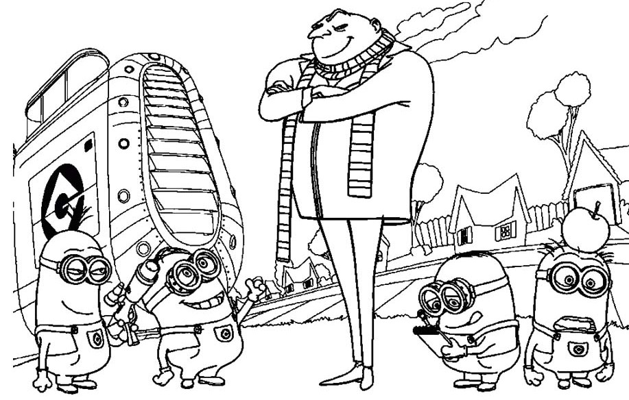 Free Coloring Pages Of Despicable Me Gru