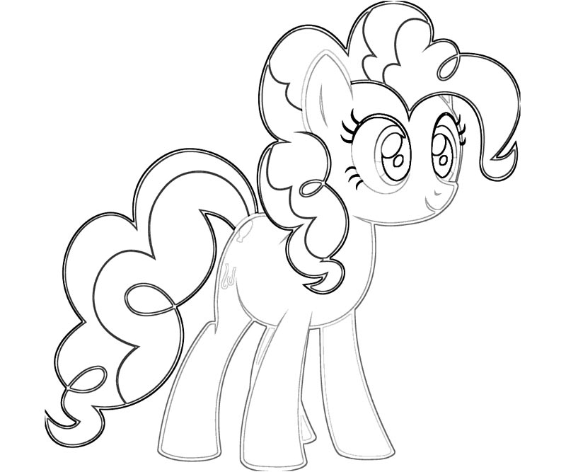 6 pinkie pie coloring page - Pinkie Pie Coloring Pages