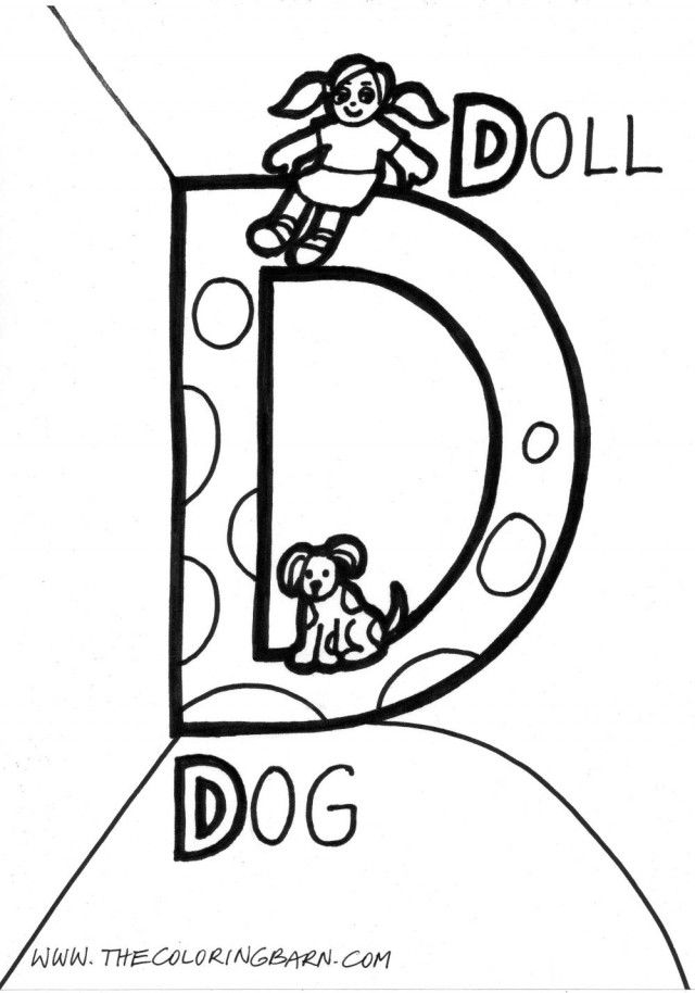 Block Letter Coloring Pages - Coloring Home