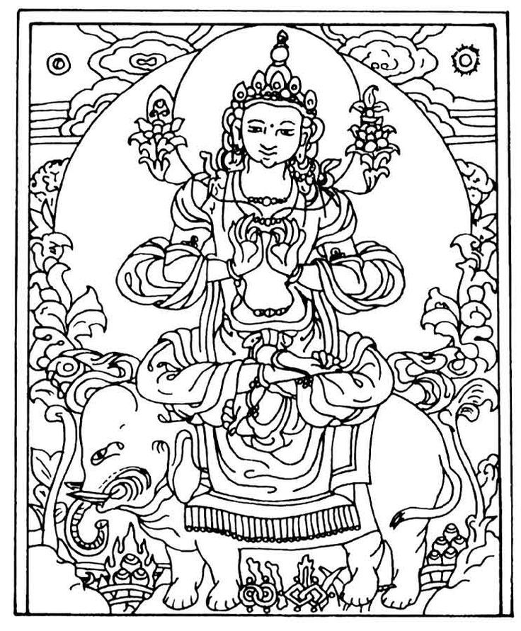 Buddha Coloring Pages Coloring Home Buddhist Coloring Pages