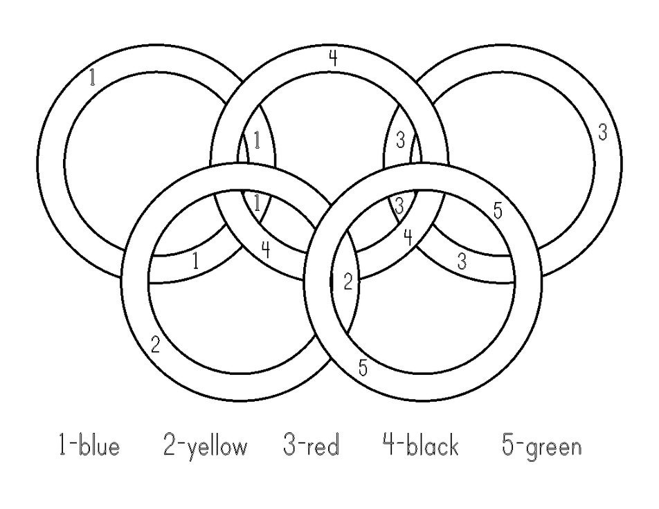 R Is For Ring Coloring Pages Olympic Rings Coloring Pages