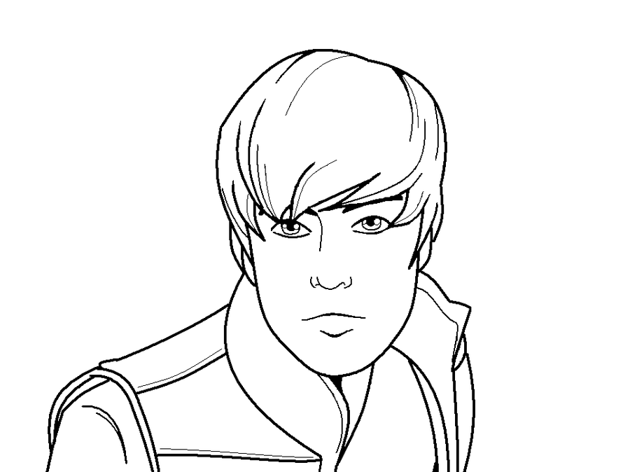 coloring pages justin bieber print - photo#2
