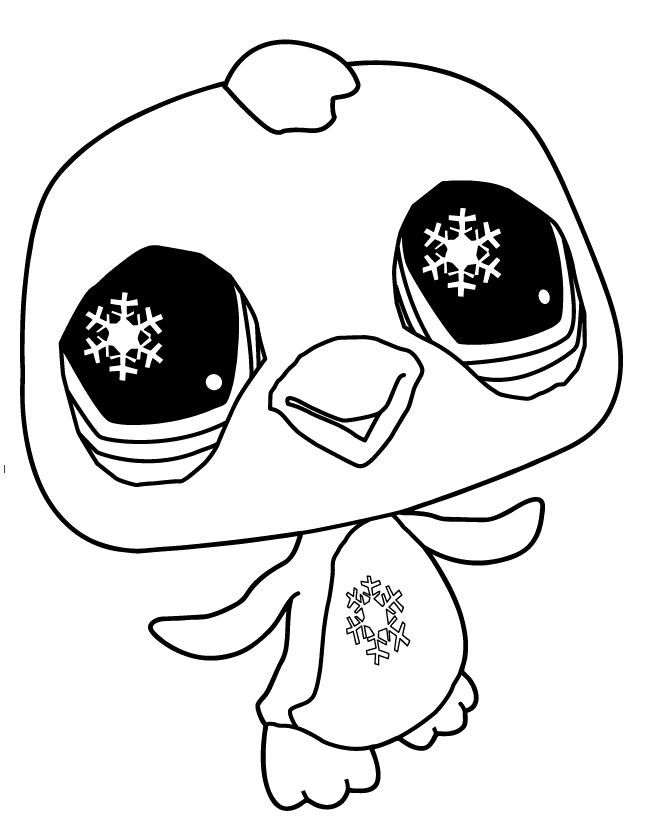 Pet Shop Coloring Pages : Littlest Pet Shop Penguin Coloring Pages