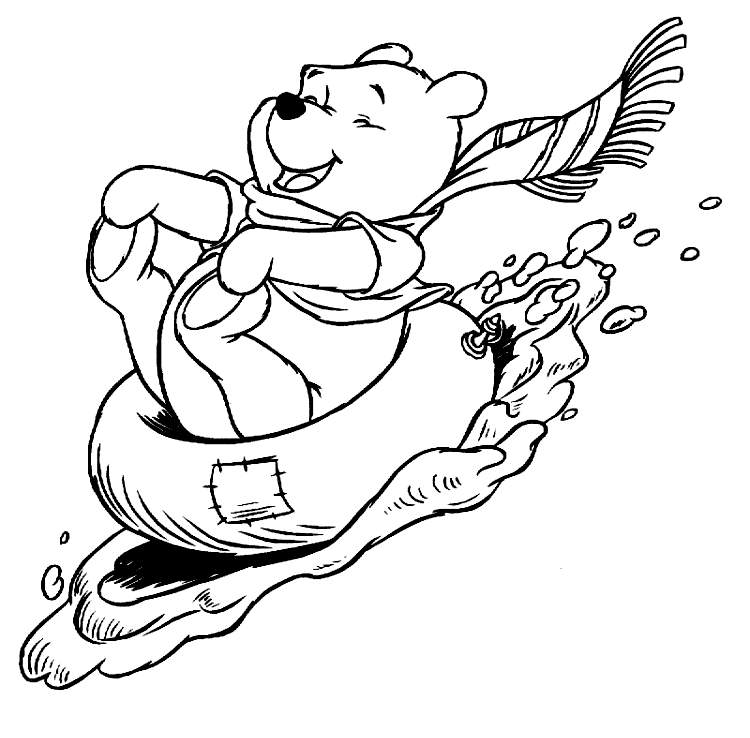 disney winter coloring pages - photo#1