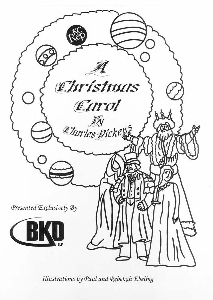 christmas carol printable coloring pages - photo#17