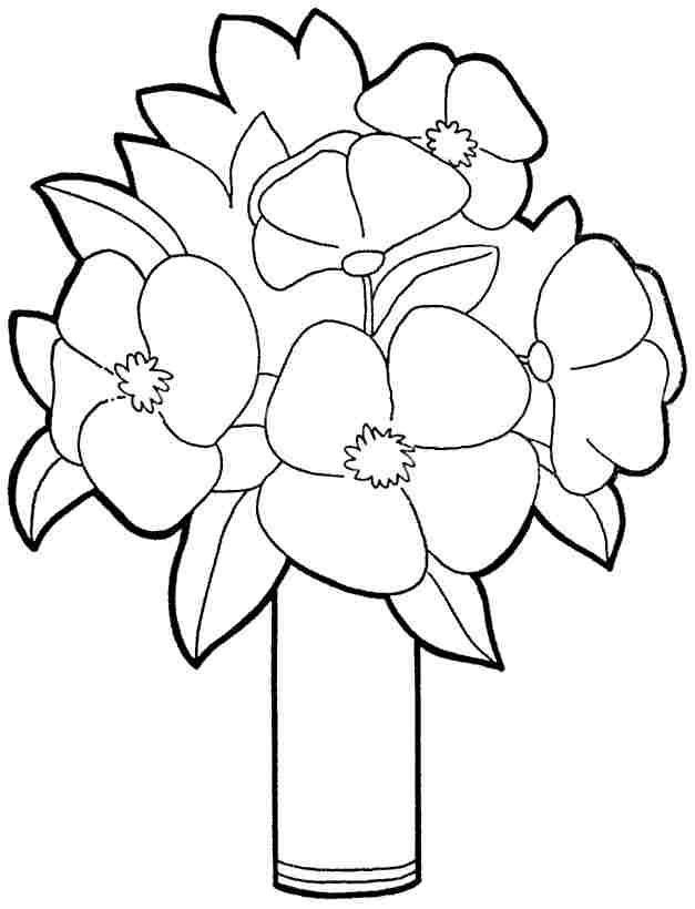 Summer Flower Bouquet Coloring Pages Moreover Worksheet In Math For ...