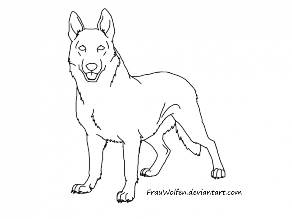 German Shepherd Puppy Coloring Pages - Coloring Home