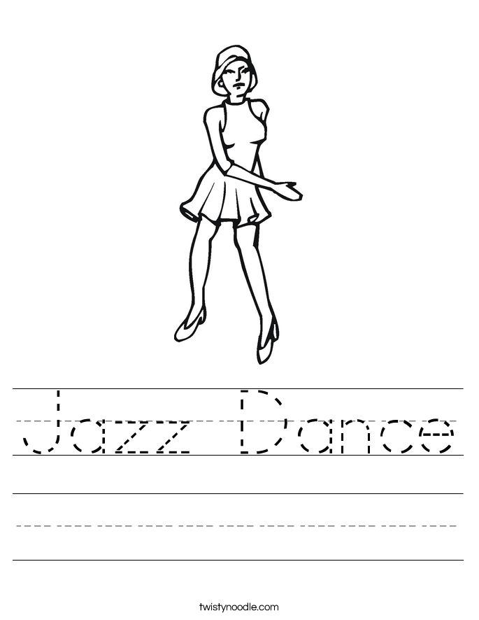tap dance coloring pages - photo#7