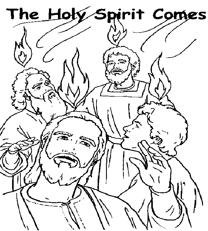 pentecost coloring pages holy spirit pentecost coloring page coloring pages