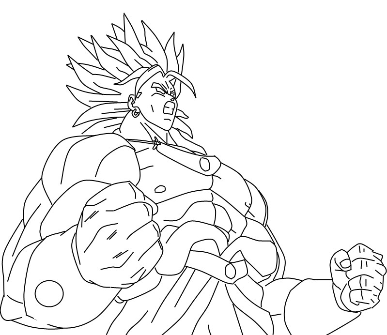 saiyans broly Colouring Pages