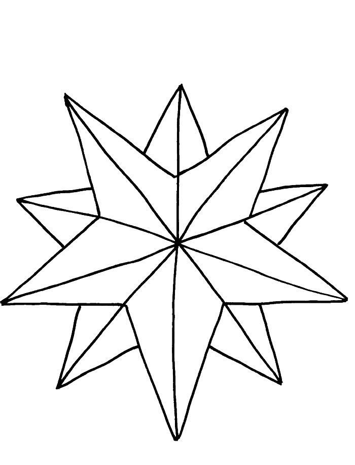 Christmas Star Coloring Page Coloring Home