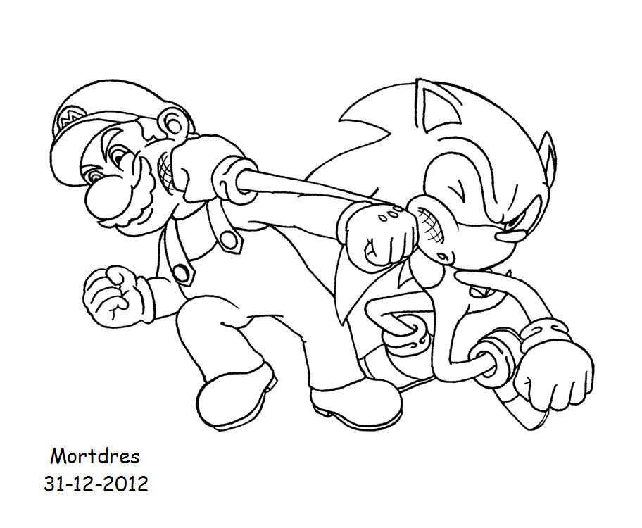 mario and sonic pictures coloring home