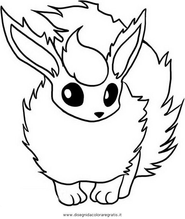 Flareon Eevee Coloring Pages From 101coloringpagescom