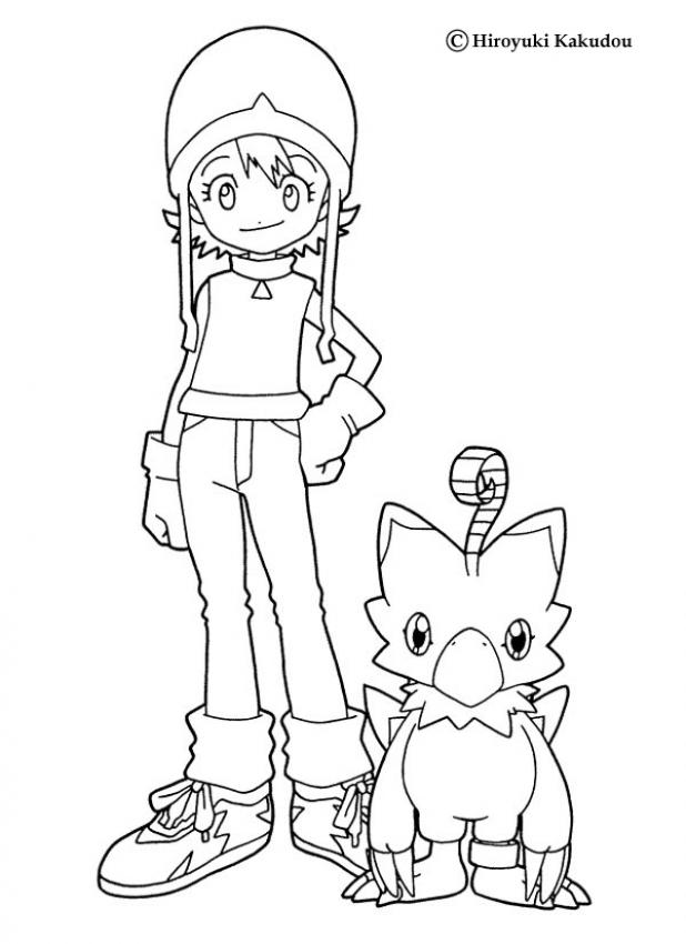DIGIMON coloring pages : 32 free online coloring books