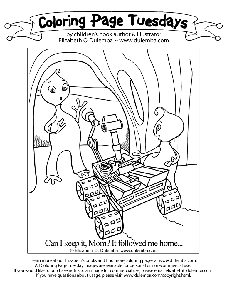 planet 51 coloring pages free - photo#24