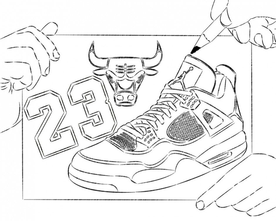 Coloring Pages Jordans Coloring Home