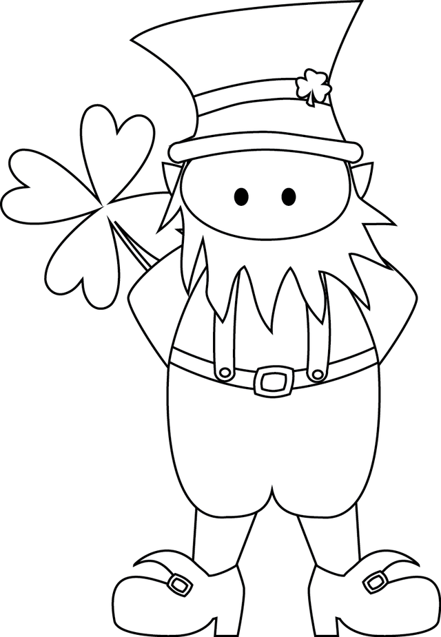Shamrock template free coloring home for Leprechaun mask template