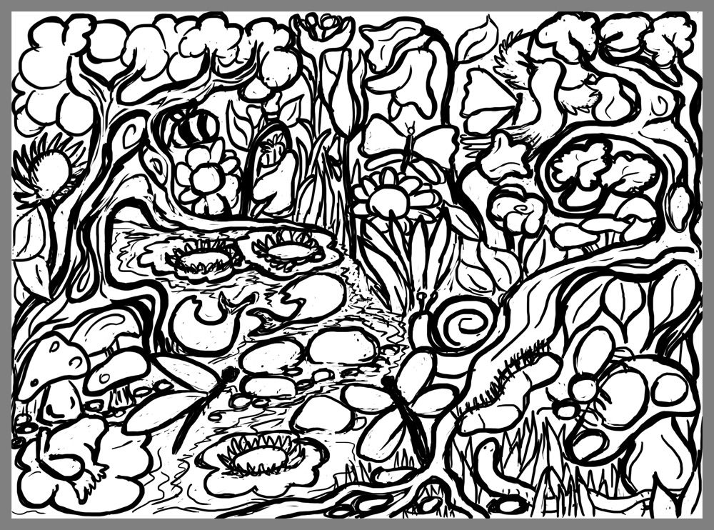 Lets Doodle Coloring Pages Home Art Posters Sheets Fantastic Garden Monumental Collaborative Puzzle
