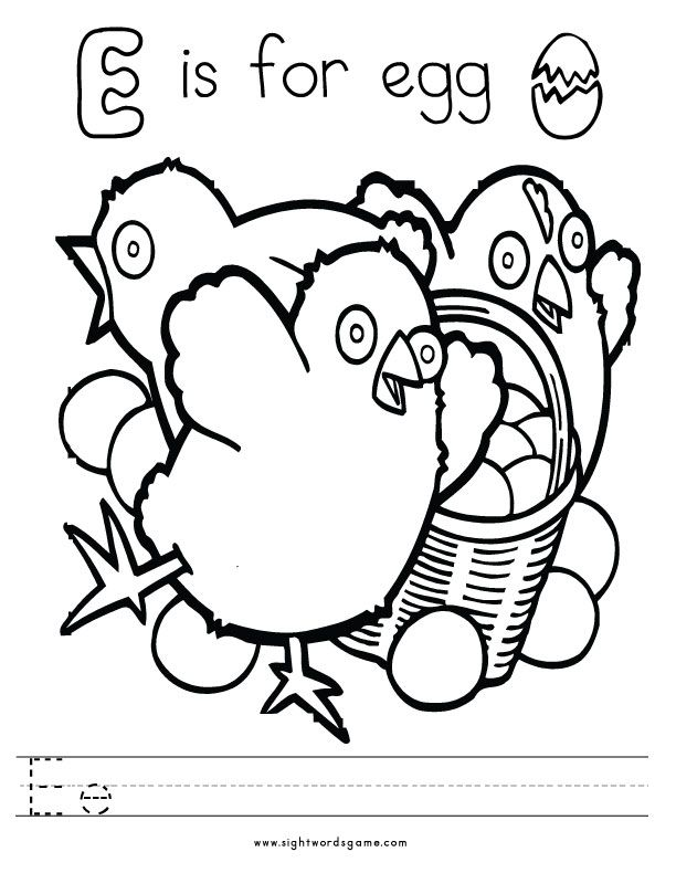 Letter E Coloring Pages Coloring Home