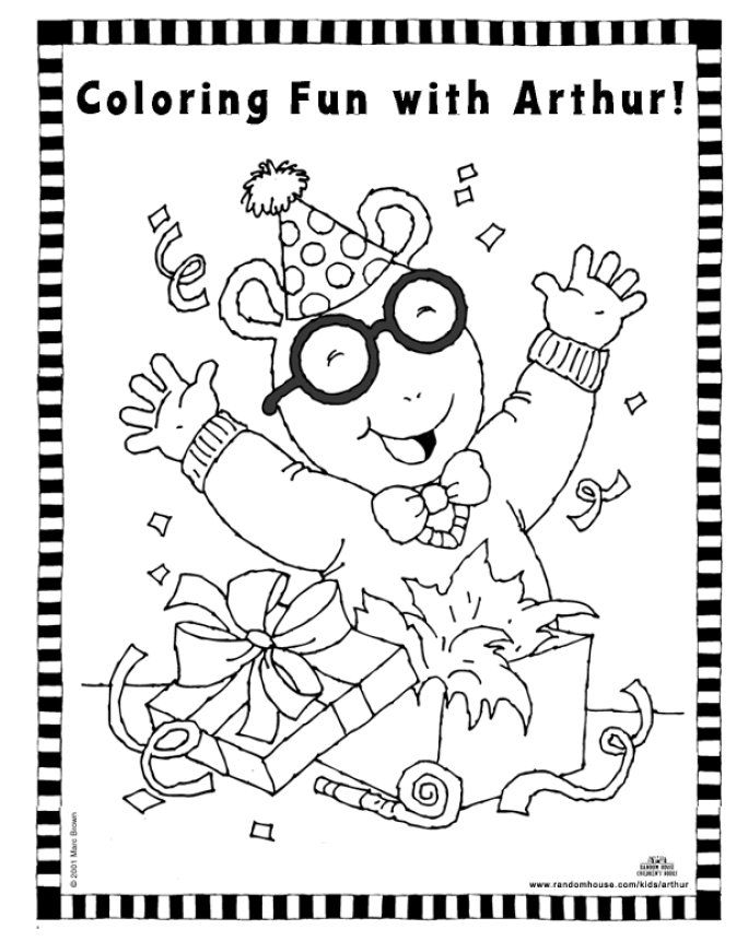 arthurs thanksgiving coloring pages - photo#12