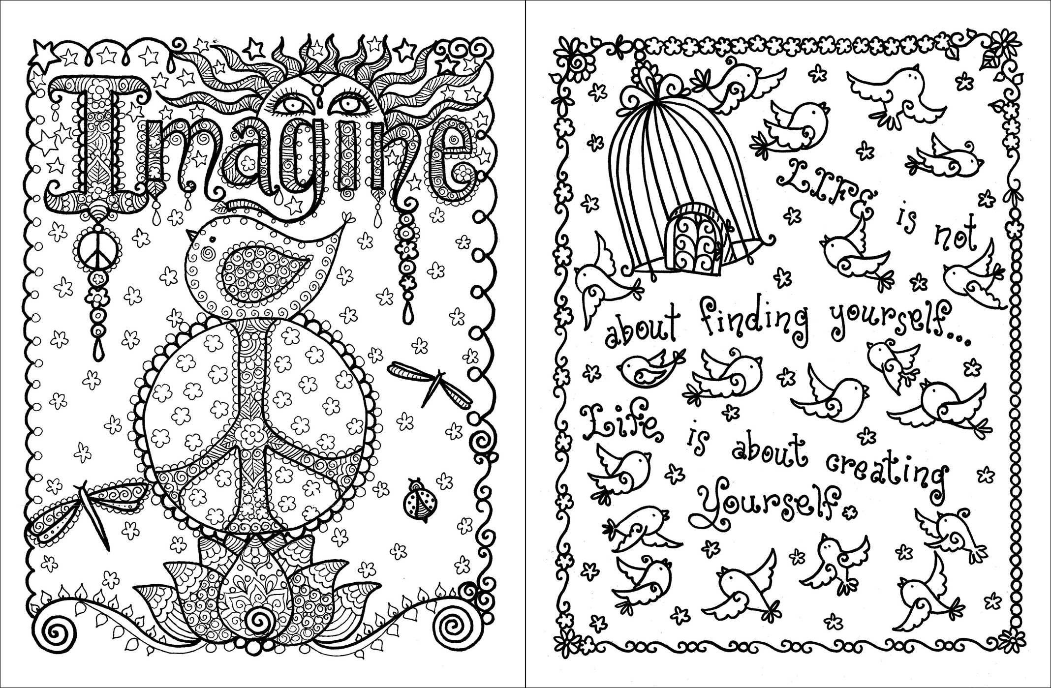 Coloring book inspirational - Buy Posh Adult Coloring Book Inspirational Quotes For Fun