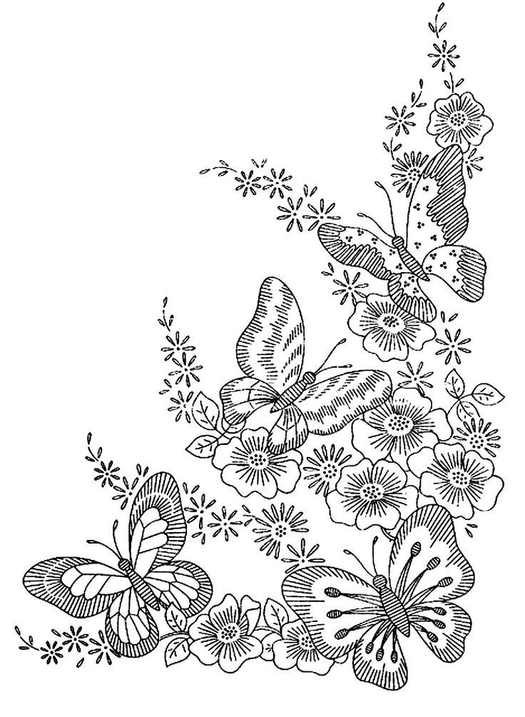 hard butterfly coloring pages - photo#13