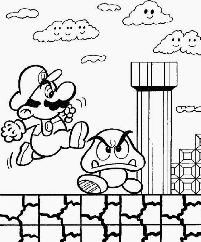 Mario Coloring Pages Pdf : Super mario coloring pages free