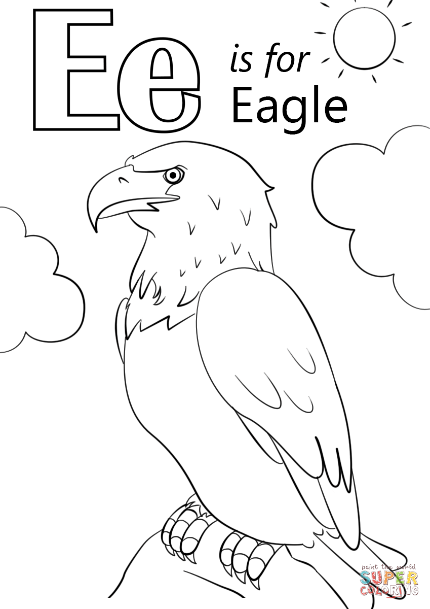 Coloring Pages E Is For Elephant Coloring Page e is for coloring page az pages letter eagle free printable pages