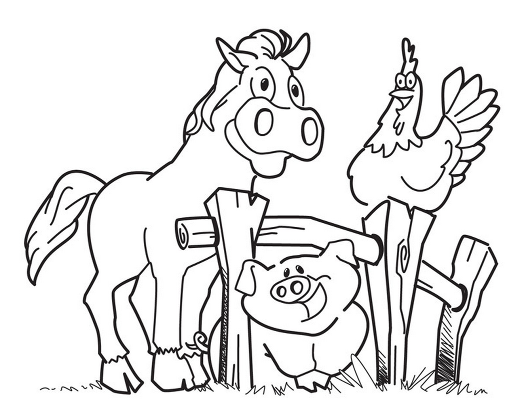On The Farm Coloring Pages - Coloring Home | 841x1048