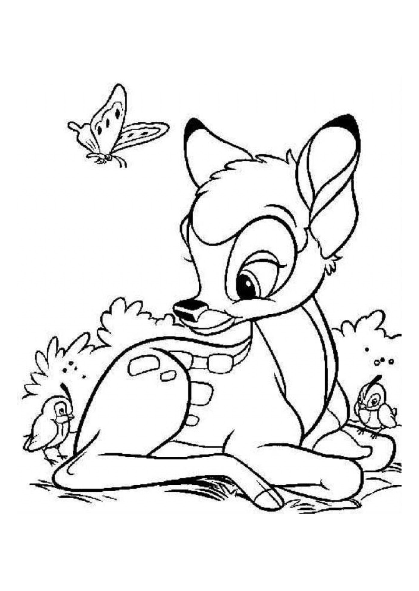 Bambi Coloring Pages Pdf : Coloriage bambi disney jpg dans coloring pages