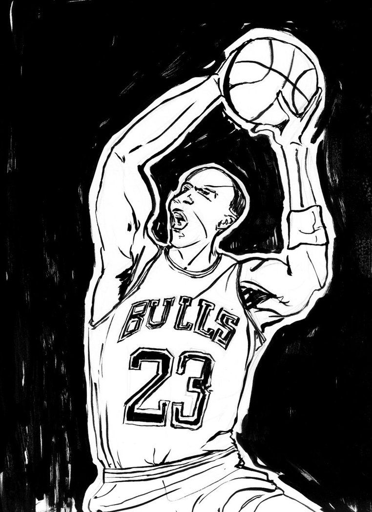 easy jordan coloring pages - photo#24