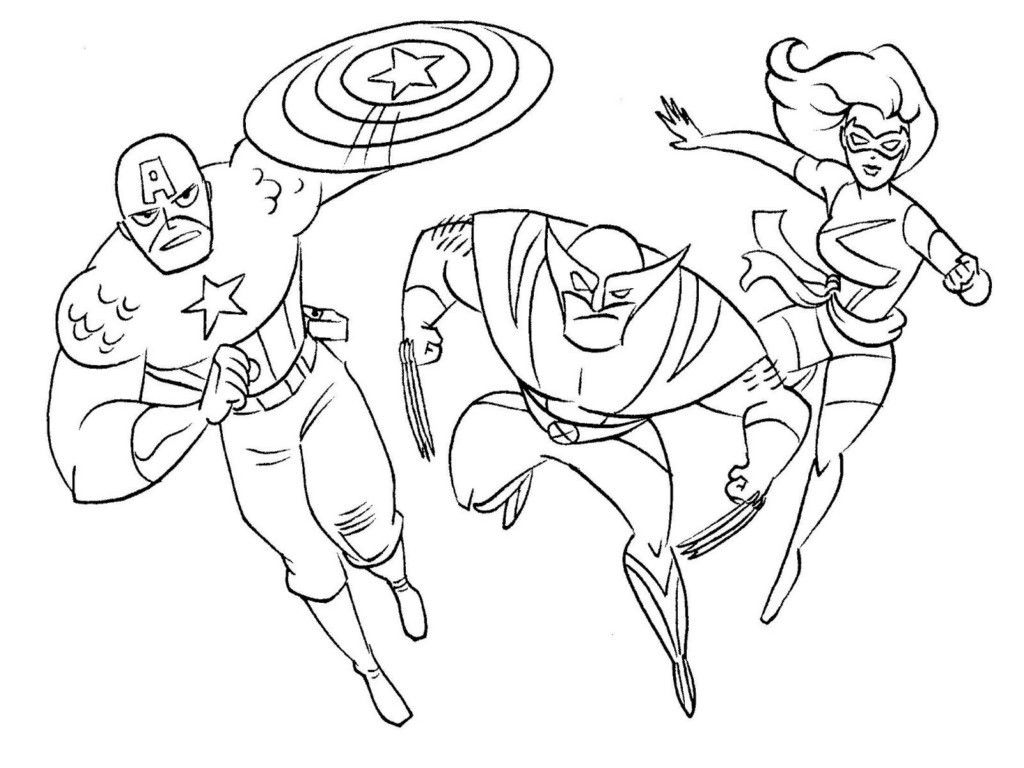 Super Heroes Coloring Pages Printable - Coloring Home