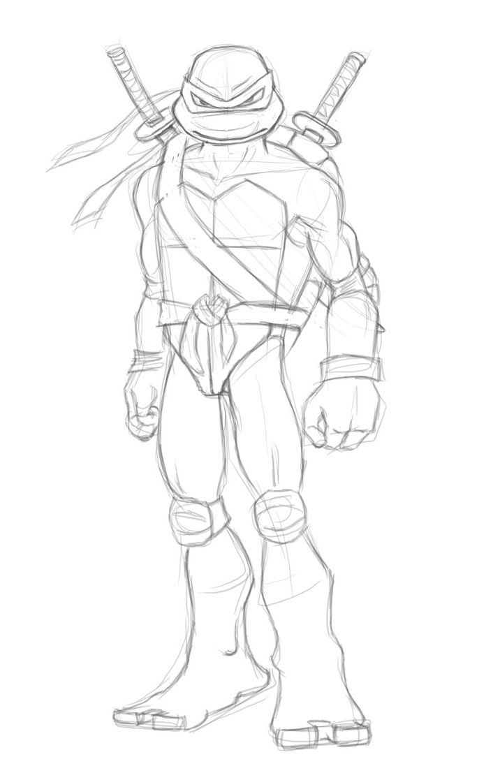 Leo Ninja Turtle Coloring Page Coloring Home