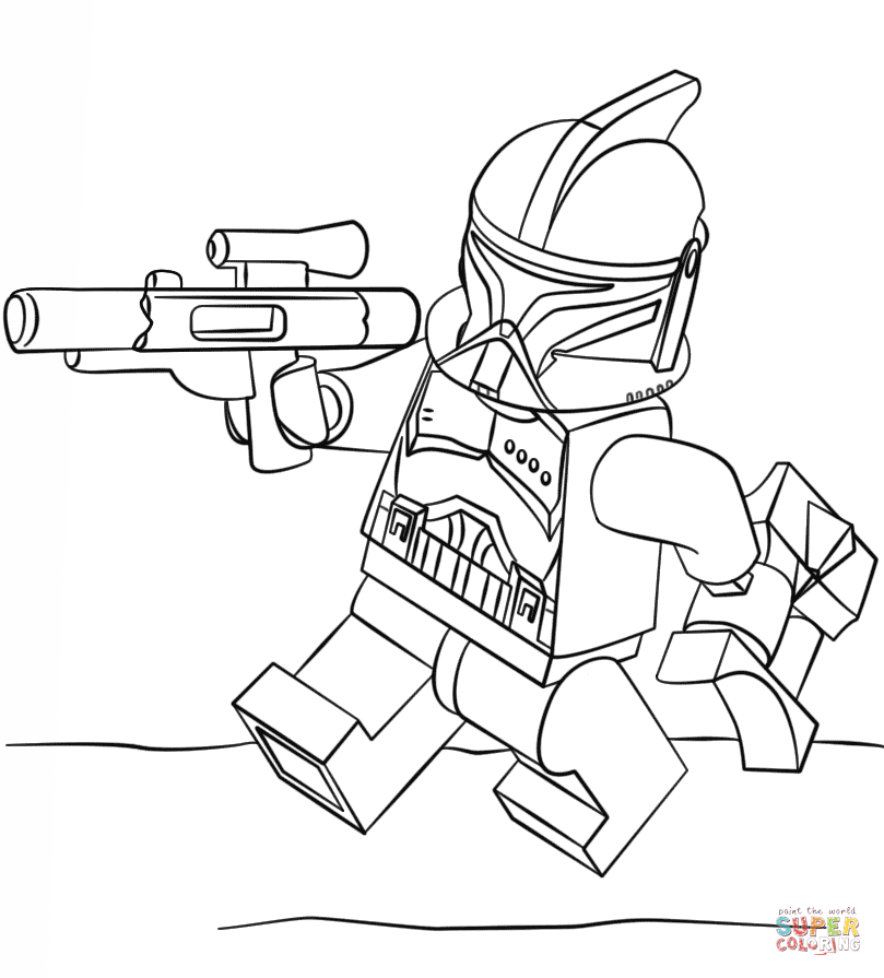 lego clone trooper coloring page free printable coloring pages - Lego Clone Trooper Coloring Pages